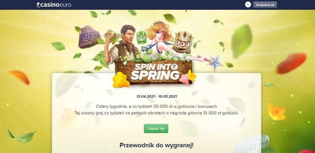 Wiosna Spinów w CasinoEuro - Turniej na slotach