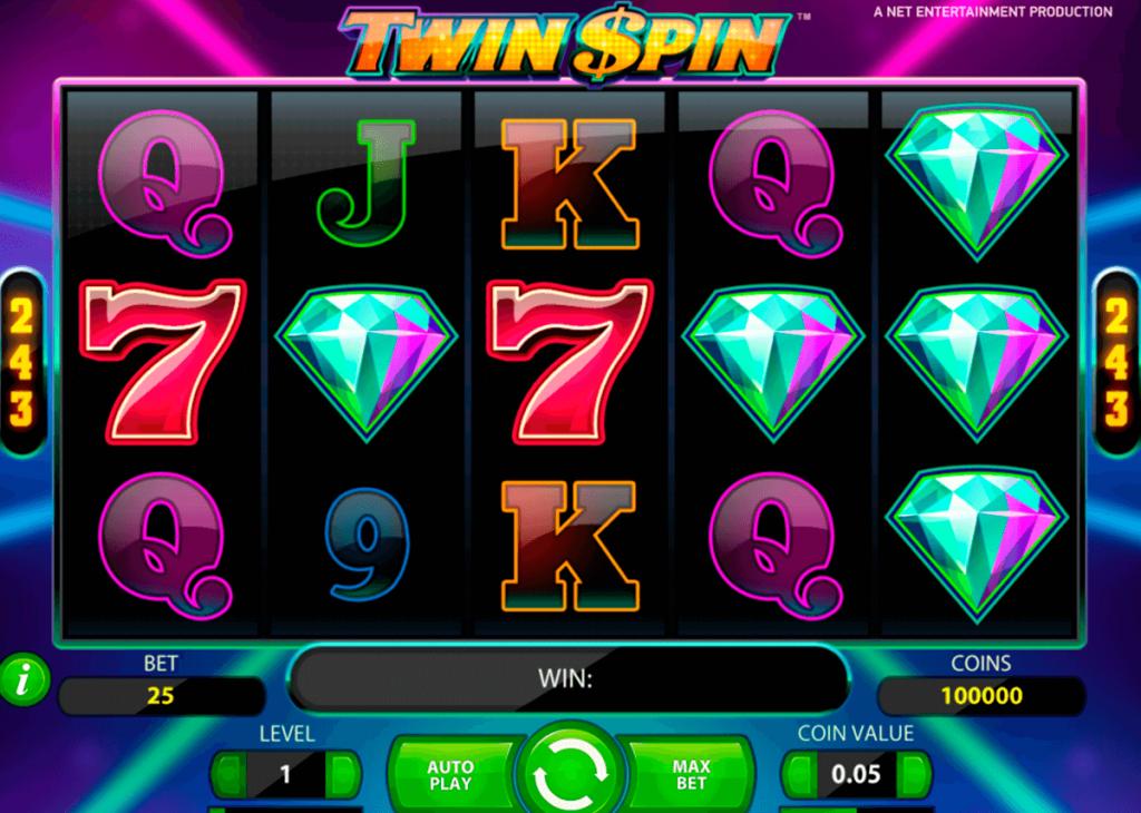 Twin Spin - Jednoręki bandyta od NetEnt w stylu retro